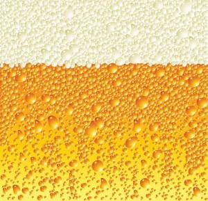 Bier met luchtbelletjes